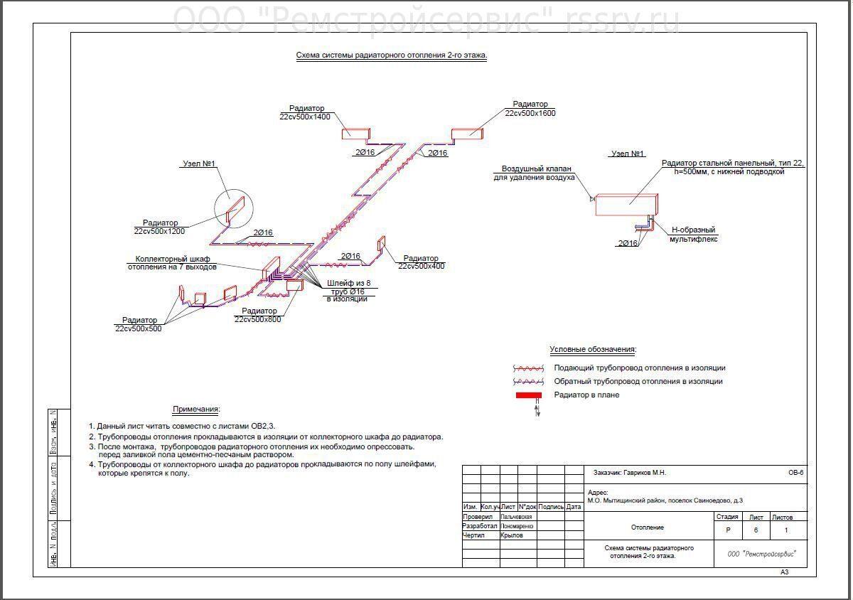 чертеж схема подачи горячей воды многоквартирных домах
