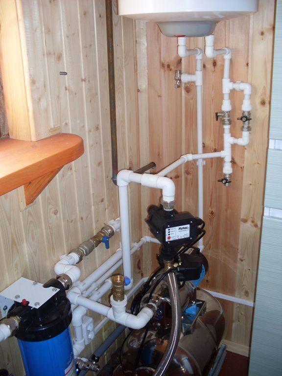 Водоснабжение загородного дома из скважины 51