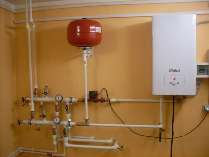схему водяного отопления
