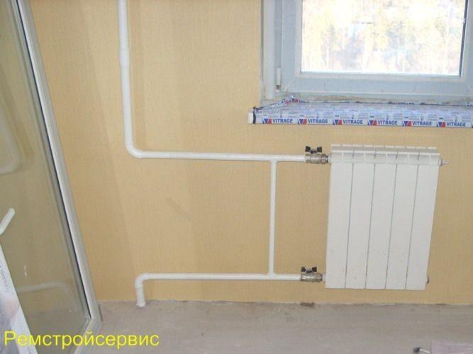 схему системы отопления